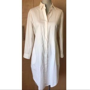 Acne studios white shirt dress